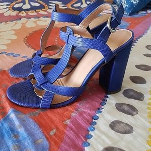 Sigerson Morrison Anthropologie Royal Blue sandals